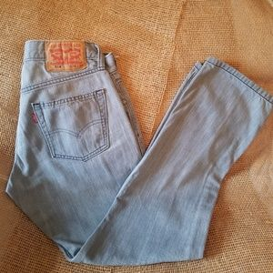 Levi's Red Tag 514 sz 28w 30L Lt Gray Denim Jeans